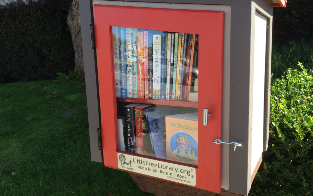 Our new Little Free Library has arrived!